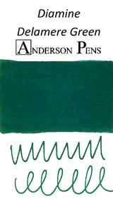 Diamine Delamere Green Ink Color Swab