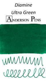 Diamine Ultra Green Ink Color Swab