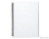 Maruman Mnemosyne N195A Notebook - A5, Lined - Black open