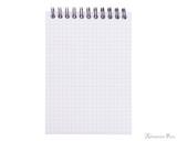 Rhodia No. 13 Wirebound Notebook - A6, Graph - Black open