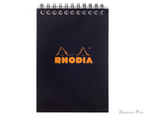 Rhodia No. 13 Wirebound Notebook - A6, Graph - Black