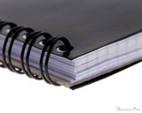 Rhodia No. 13 Wirebound Notebook - A6, Graph - Black coil detail