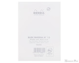 Rhodia No. 13 Staplebound Notepad - A6, Lined - Ice White back cover
