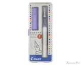 Pilot Kakuno Fountain Pen - White with Purple Cap, Fine Nib - Box