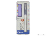 Pilot Kakuno Fountain Pen - White with Purple Cap, Fine Nib - Box