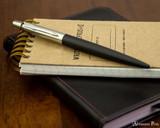 Parker Jotter Ballpoint - Bond Street Black - On Notebook