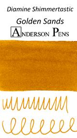Diamine Shimmertastic Golden Sands Ink Sample (3ml Vial)