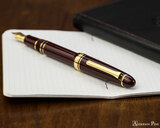 Sailor 1911 Realo Fountain Pen - Maroon with Gold Trim - Posted on Notebook