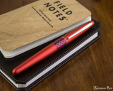 Pilot Metropolitan Fountain Pen - Retro Pop Red - On Notebook
