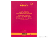 Rhodia No. 16 Premium Notepad - A5, Lined - Raspberry back cover
