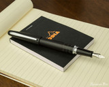 Pilot Metropolitan Fountain Pen - Crocodile - Open on Notebook