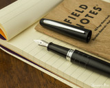 Pilot Metropolitan Fountain Pen - Crocodile - Nib on Notebook