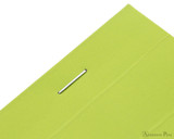 Rhodia No. 16 Premium Notepad - A5, Lined - Anis Green staple detail