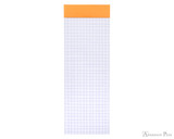 Rhodia No. 8 Notepad - 3 x 8.25, Graph - Orange open