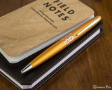 Pilot Metropolitan Ballpoint - Retro Pop Orange - On Notebook
