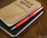 Pilot Metropolitan Ballpoint - Retro Pop Red - On Notebook