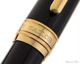 Sailor Pro Gear King of Pen Fountain Pen - Black with Gold Trim - Cap Band
