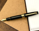 Sailor Pro Gear King of Pen Fountain Pen - Black with Gold Trim - Posted on Notebook