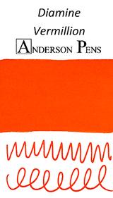 Diamine Vermillion Ink Color Swab