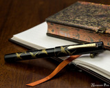 Namiki Chinkin Fountain Pen - Crane - Closed on Notebook