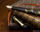 Namiki Chinkin Fountain Pen - Crane - Open on Paperblanks