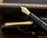 Namiki Chinkin Fountain Pen - Crane - Nib Open