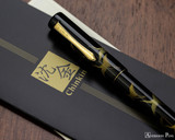 Namiki Chinkin Fountain Pen - Crane - Closed on Manual