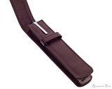 Girologio 1 Pen Case - Brown Leather - Open with Pen