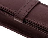 Girologio 1 Pen Case - Brown Leather - Logo and Stitching