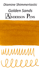 Diamine Shimmertastic Golden Sands Ink Color Swab