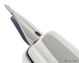 Pilot Vanishing Point Decimo Fountain Pen - Light Blue - Nib Profile