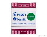 Pilot Namiki Green Ink Cartridges (6 Pack)