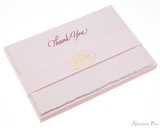 G. Lalo Deckle-Edge Notecards - 4.25 x 6, Thank You - Rose
