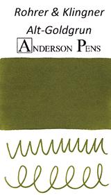 Rohrer & Klingner Alt-Goldgrun Ink Sample (3ml Vial)