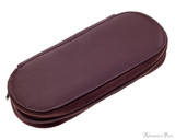 Girologio 3 Pen Zipper Case - Brown Leather