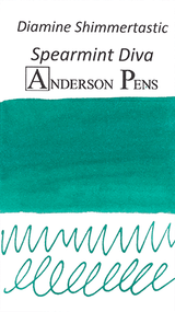 Diamine Shimmertastic Spearmint Diva Ink Color Swab