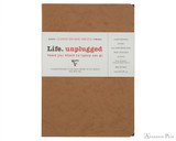 Clairefontaine Basic Staplebound Duo - 5.75 x 8.25, Lined - Tan Cover