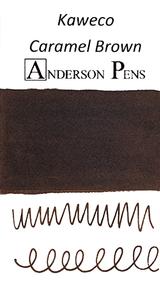 Kaweco Caramel Brown Ink Cartridges color swab