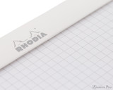 Rhodia No. 18 Staplebound Notepad - A4, Graph - Ice White graph detail