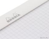 Rhodia No. 18 Staplebound Notepad - A4, Graph - Ice White graph detail