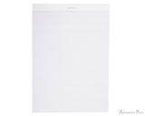 Rhodia No. 18 Staplebound Notepad - A4, Graph - Ice White open