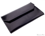 Girologio 12 Pen Case Portfolio - Black Leather