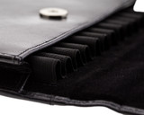 Girologio 12 Pen Case Portfolio - Black Leather - Loops