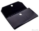 Girologio 12 Pen Case Portfolio - Black Leather - Open