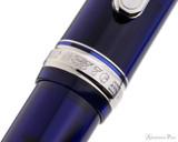 Platinum 3776 Century Fountain Pen - Chartres Blue with Rhodium Trim - Cap Band