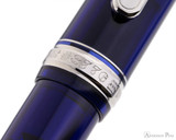 Platinum 3776 Century Fountain Pen - Chartres Blue with Rhodium Trim - Cap Band