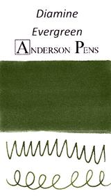 Diamine Evergreen Ink Color Swab