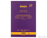 Rhodia No. 16 Premium Notepad - A5, Lined - Purple back cover