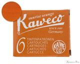 Kaweco Sunrise Orange Ink Cartridges (6 Pack)