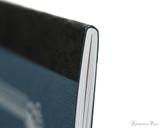 APICA CD11 Notebook - A5, Lined - Navy thread binding